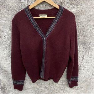 Eddie Bauer Lambs Wool Cardigan